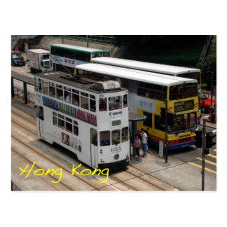 Hong Kong tram Postcard