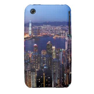 Hong Kong Victoria Harbor at Night iPhone 3 Cover