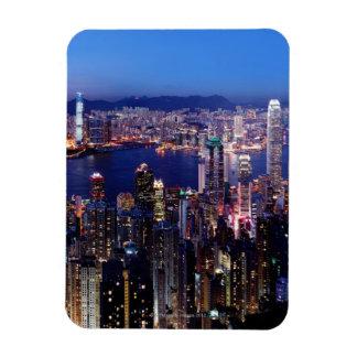 Hong Kong Victoria Harbor at Night Magnet