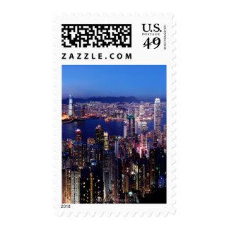 Hong Kong Victoria Harbor at Night Postage