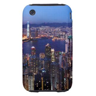 Hong Kong Victoria Harbor at Night Tough iPhone 3 Cover