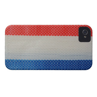 Hong Kong Vintage Red White and Blue Strips iPhone 4 Case
