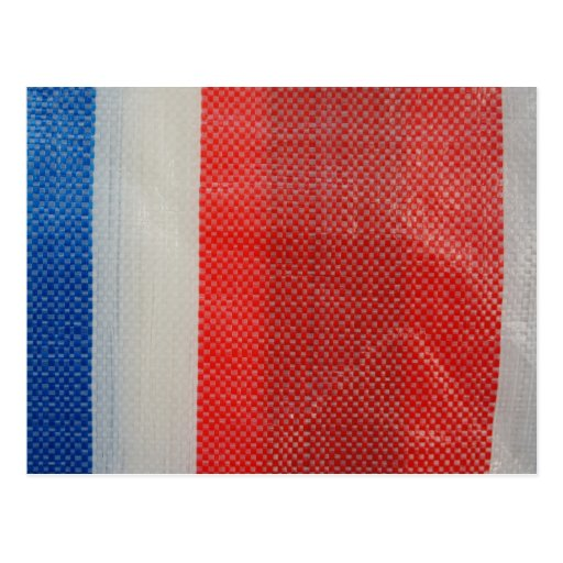 Hong Kong Vintage - Red White and Blue Strips Postcard