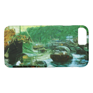 Hong Kong Water Taxis Abstract Impressionism iPhone 7 Case