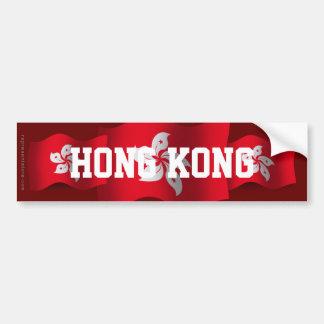 Hong Kong Waving Flag Bumper Sticker