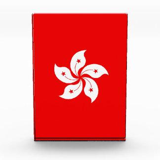 Hong Kong White Orchid Symbol on Red Acrylic Award