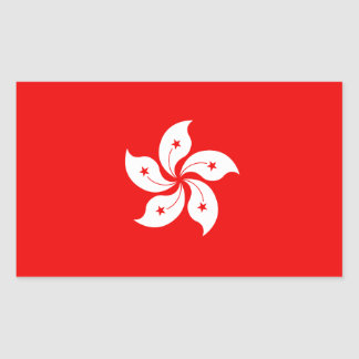 Hong Kong White Orchid Symbol Rectangular Sticker