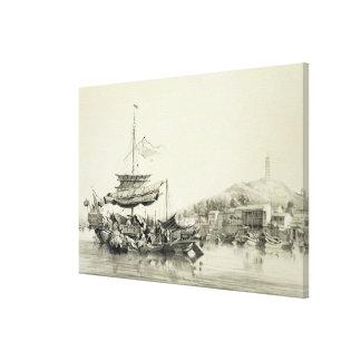 Hong Shang, plate 17 from 'Sketches of China', eng Canvas Print