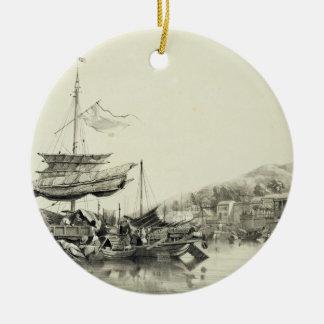 "Hong Shang, platea 17 de los ""bosquejos de China"", Adornos De Navidad"