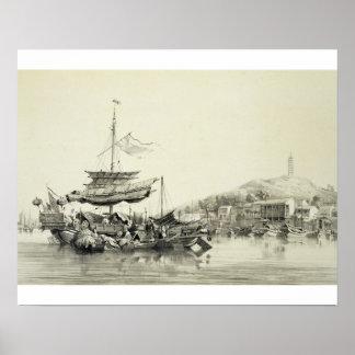 Hong Shang platea 17 de los bosquejos de China Impresiones