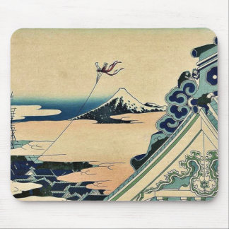 Hongan ji Temple at Asakusa by Katsushika,Hokusai Mouse Pad