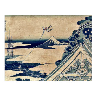 Hongan ji Temple at Asakusa by Katsushika,Hokusai Post Card