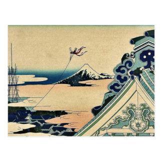 Hongan ji Temple at Asakusa by Katsushika,Hokusai Postcards