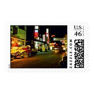 Hongeun-Dong At Night Postage Stamps