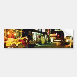 Hongeun-Dong en la noche Etiqueta De Parachoque