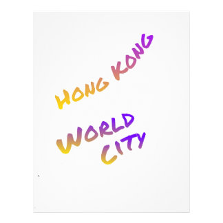 Hongkong world city letter art color Asia Letterhead