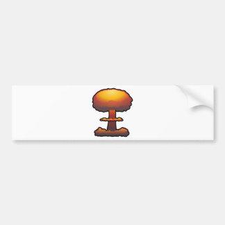 Hongo atómico anaranjado de la explosión pegatina para auto