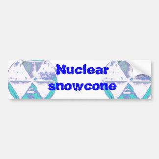 Hongo atómico congelado pegatina para auto