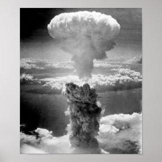 Hongo atómico sobre Nagasaki -- WW2 Póster