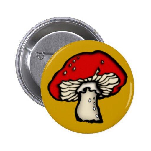 Hongo de mosca hongo toadstool mushroom pin