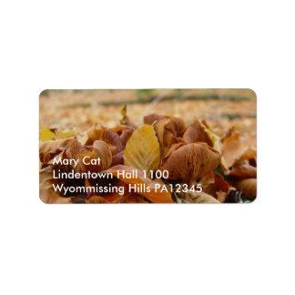 Hongos #1 del bosque etiqueta de dirección
