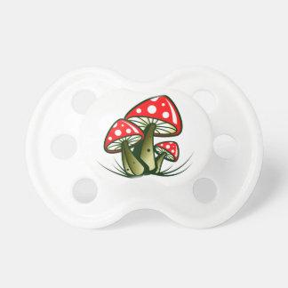 Hongos de mosca toadstools chupetes para bebes