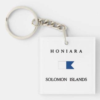 Honiara Solomon Islands Alpha Dive Flag Keychain