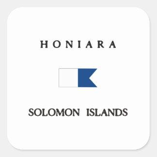 Honiara Solomon Islands Alpha Dive Flag Square Sticker