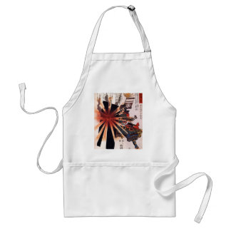 Honjo Shigenaga parrying an exploding shell Adult Apron
