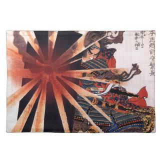 Honjo Shigenaga parrying an exploding shell Cloth Placemat