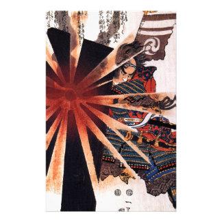 Honjo Shigenaga parrying an exploding shell Stationery