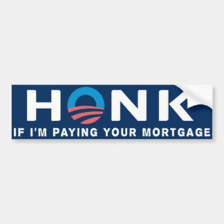 Honk Anti Obama Bumper Sticker