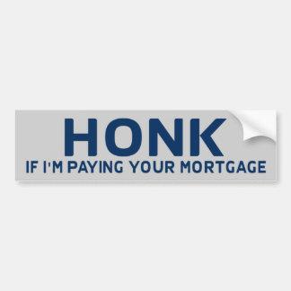 Honk Anti Obama BumperSticker Bumper Sticker