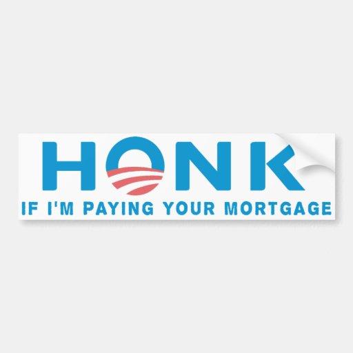 Honk Anti Obama Bumpersticker Bumper Stickers