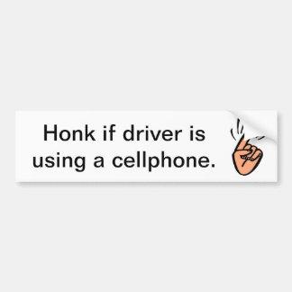 Honk for cellphones! car bumper sticker