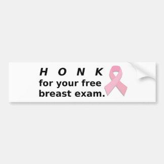 Honk for Exam. Bumper Sticker