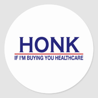 Honk Healthcare Obamacare Round Sticker