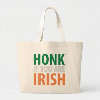 honk if you are irish tote bags