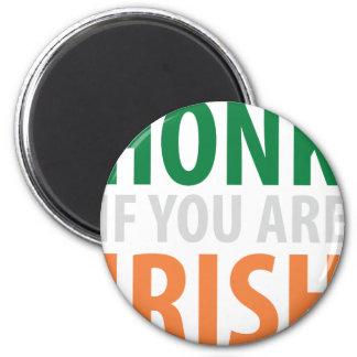 honk if you are irish fridge magnets