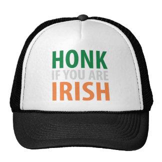 honk if you are irish trucker hat