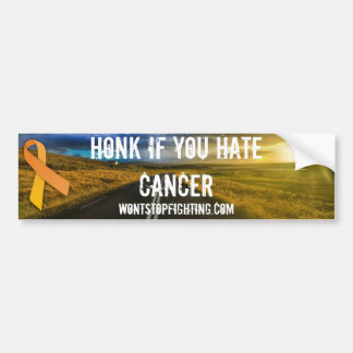 Honk if you Hate Cancer Car Bumper Sticker