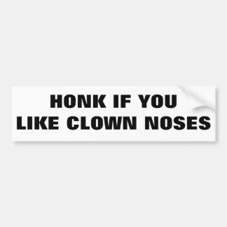 Honk if You Like Clown Noses Car Bumper Sticker