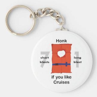 Honk If You Like Cruises Basic Round Button Keychain