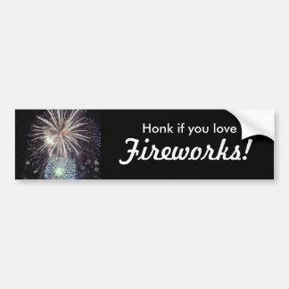 Honk if you love FIREWORKS Bumper Sticker