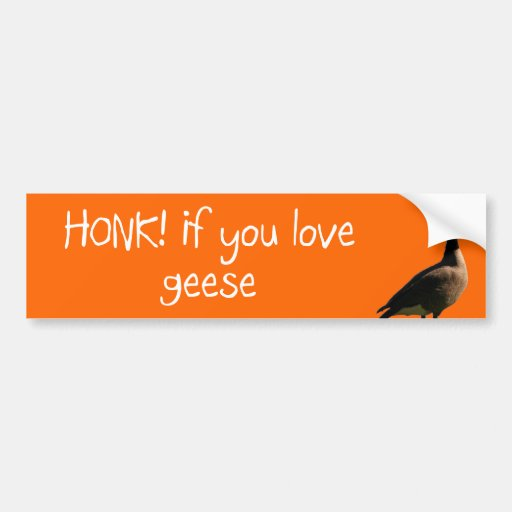 HONK if you love Geese Bumper Sticker