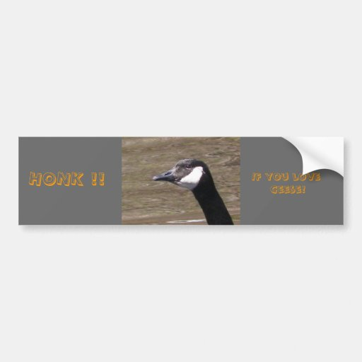 Honk !! If you love Geese!  Bumper Sticker