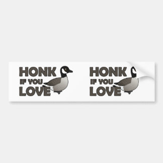Honk If You Love Geese Bumper Stickers
