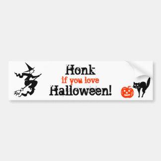 Honk if you love Halloween Bumper Stickers