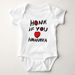 Honk If You Love Hanukha Baby Bodysuit