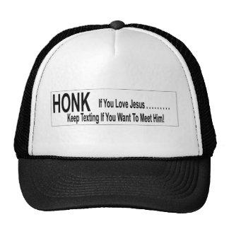 Honk If You Love Jesus, Keep Texting... Trucker Hat